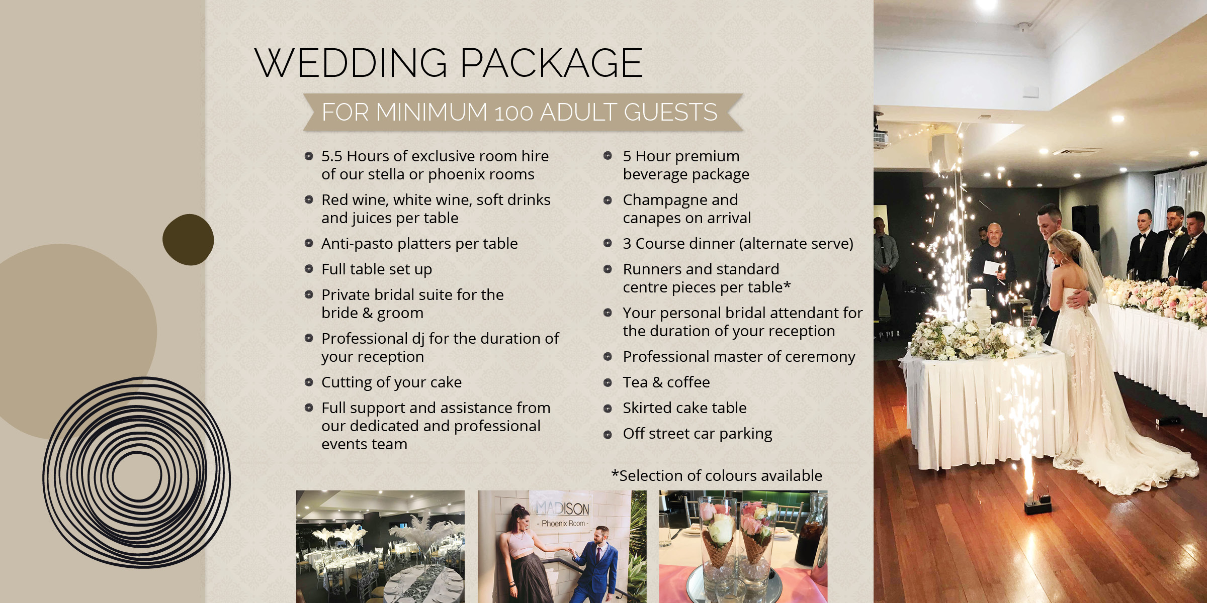 Wedding Packages at Madison