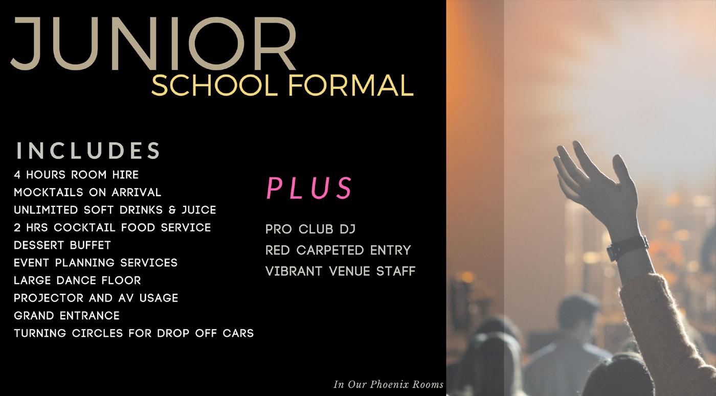 Junior School Formals in Sydney Australia
