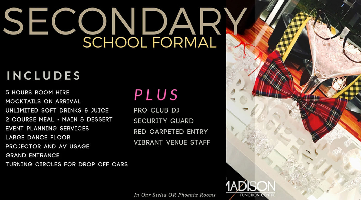 Secondary School Formals Package in Sydney